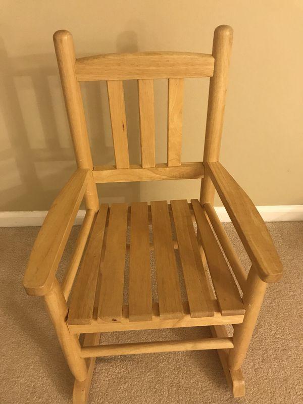 Wooden toddler rocking chair (Baby & Kids) in Round Lake, IL - OfferUp