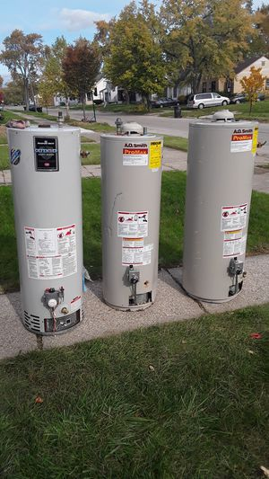 Photo Good used 40-gallon hot water heaters starting at $99