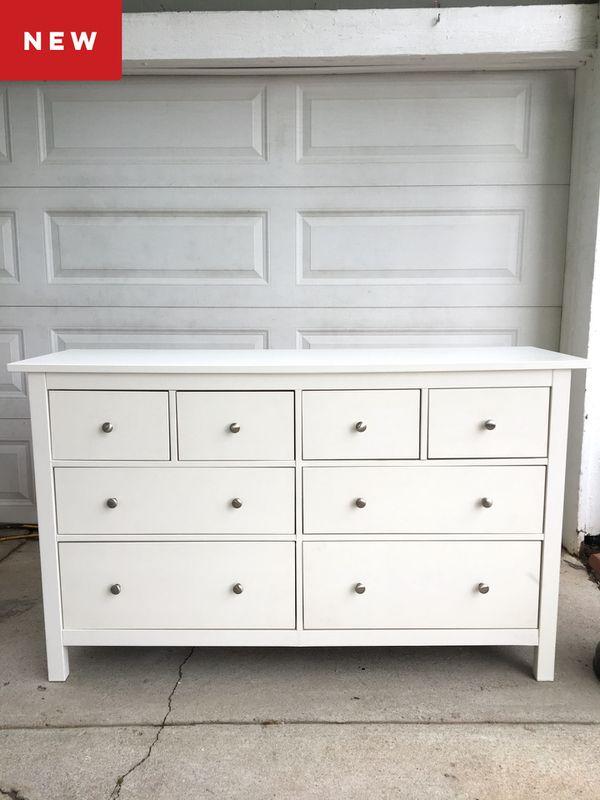 White Ikea Hemnes 8 Drawer Dresser
