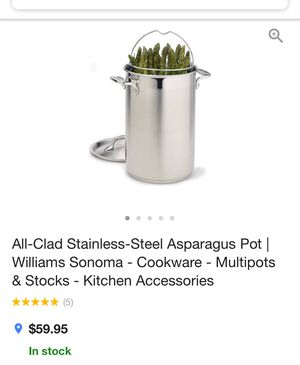 Stainless Steel asparagus multi pot cookware for Sale in Haymarket, VA