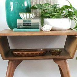Vintage Mid Century Modern Heywood Wakefield Atomic Side Table Thumbnail