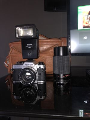 Nikon FG-20 With carrying case and 2 Lens for Sale in Fairfax Station, VA