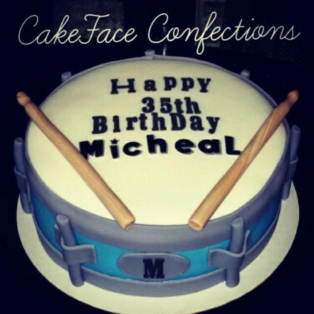 Custom Snare Drum Cake