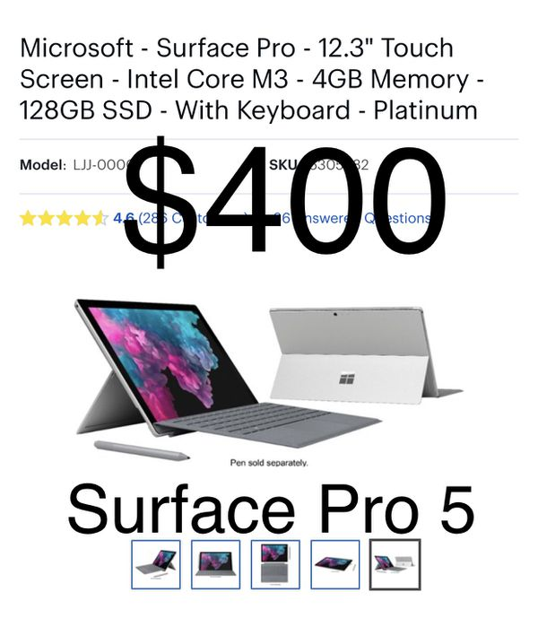 microsoft surface pro 5 used for sale