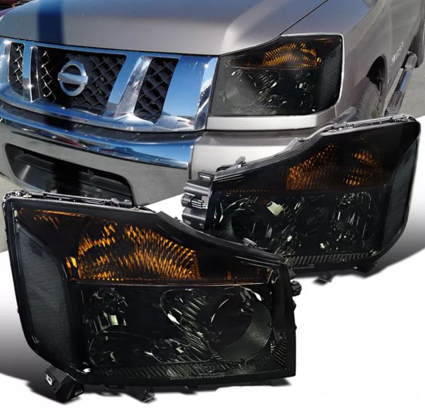 2004~2015 Nissan Titan Smoked Headlights For Sale In Pico