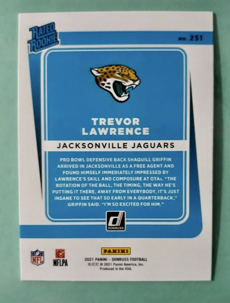 2021 Donruss Trevor Lawrence Rated Rookie