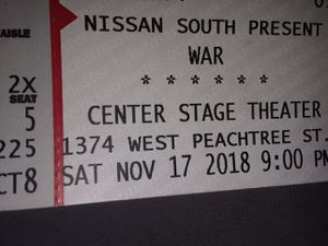 Two tickets to see W.A.R 11-17-18 for Sale in Lithonia, GA