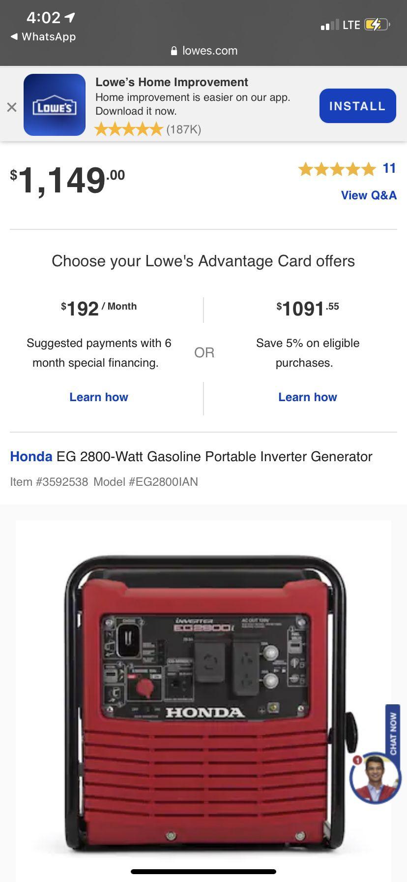 Generator Honda Planta De Luz