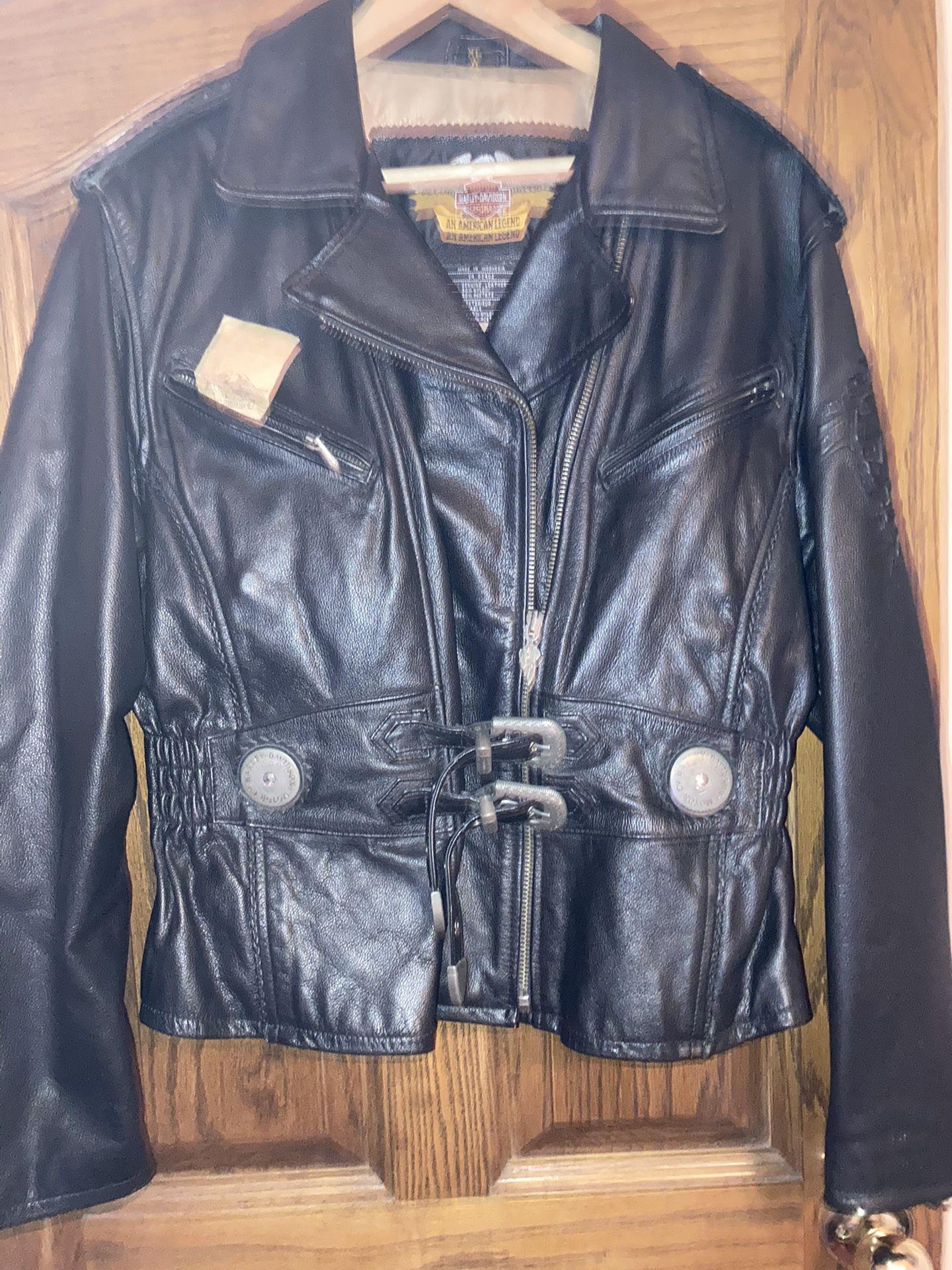 Photo Ladies Vintage Harley Davidson Jacket