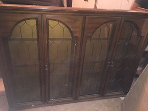 China cabinet set with vinyl record cabinet for Sale in Detroit, MI