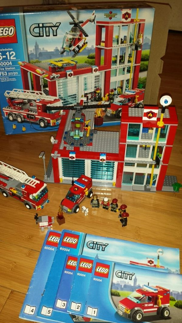 Lego Fire Station Complete With Instructions And Box For Sale In