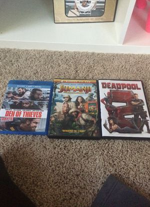 Deadpool 2, Den of Thieves, Jumanji: Welcome to the Jungle for Sale in Manassas, VA