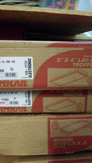 2'x 4' lay-in troffer fluorescent T8 four bulb fixtures. for Sale in Allen, TX