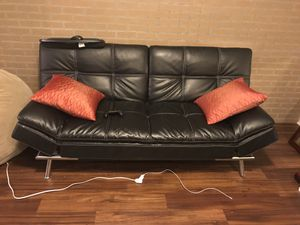 Black Leather Futon For In Indianapolis