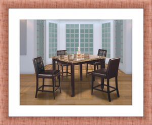 Counter height dining table with 4 leather chairs for Sale in Fairfax, VA