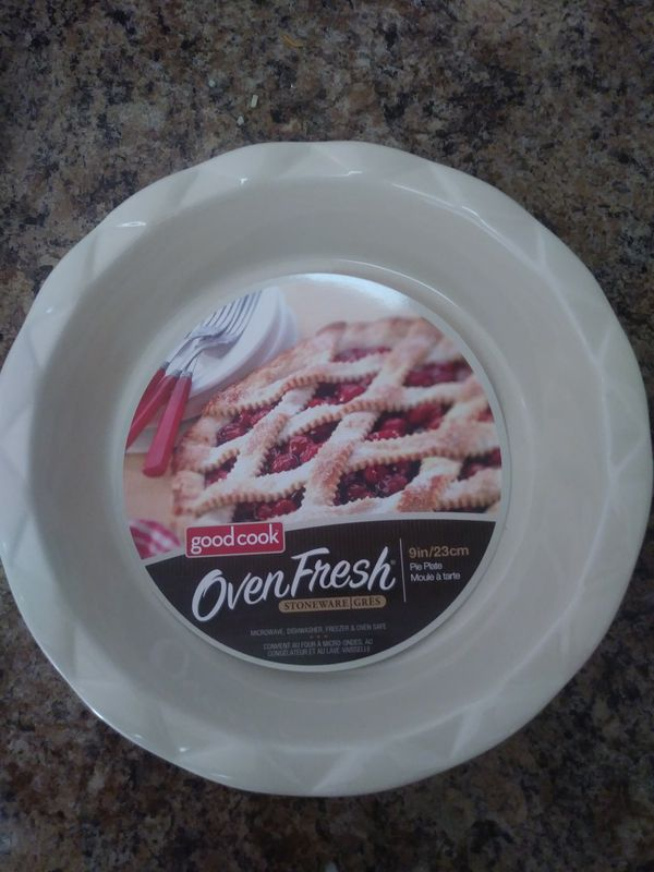 Good cook oven fresh stoneware pie plates for Sale in Menifee, CA ...