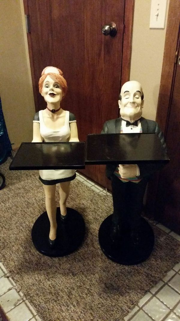 The Bombay Company Henry The Butler Amp Millie Maid Statues