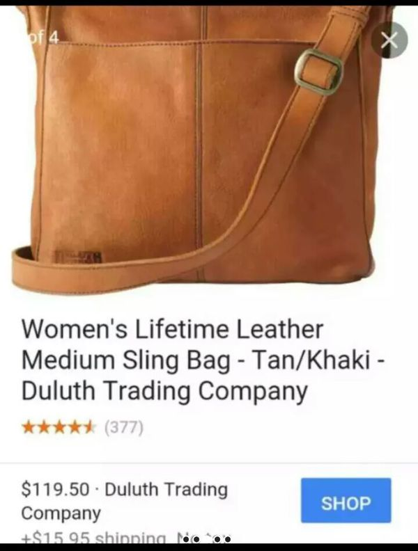 ce4b56dc9 Duluth Women s Lifetime Leather Medium Sling Bag for Sale in Fort Worth