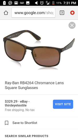 693ffb9cb19ded Ray-Ban RB4264 Chromance Lens Square Sunglasses for Sale in Los Angeles