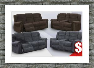 Grey or chocolate recliner set with free delivery for Sale in McLean, VA