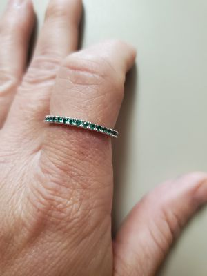 Photo New Emerald Stacking Band by Chloe and Isabel