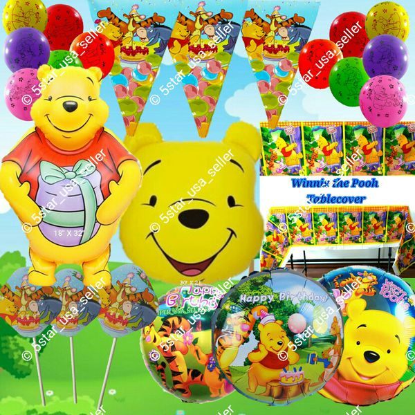 WINNIE THE POOH BIRTHDAY PARTY BALLOONS DECORATION SUPPLIES