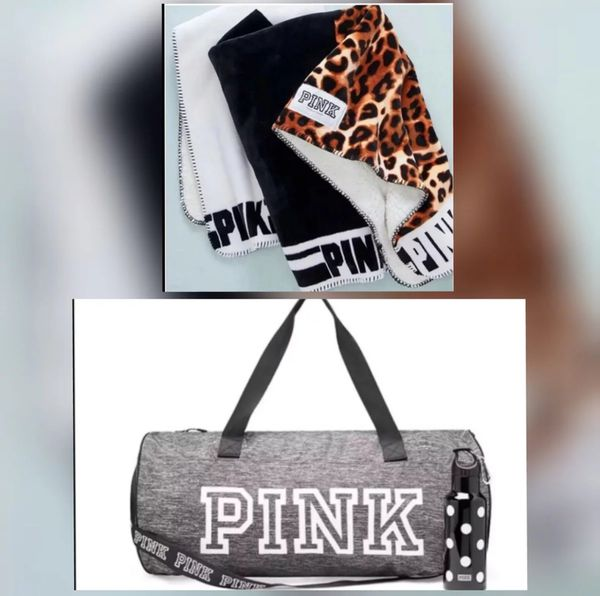 VS Sherpa NWT   Pink Duffle Bag with Water Bottle for Sale in Victorville 0cf9bc33386c6