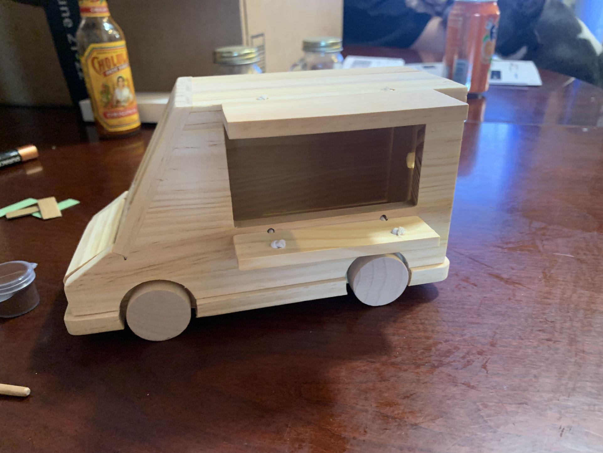 Wooden decorate your own ice cream truck