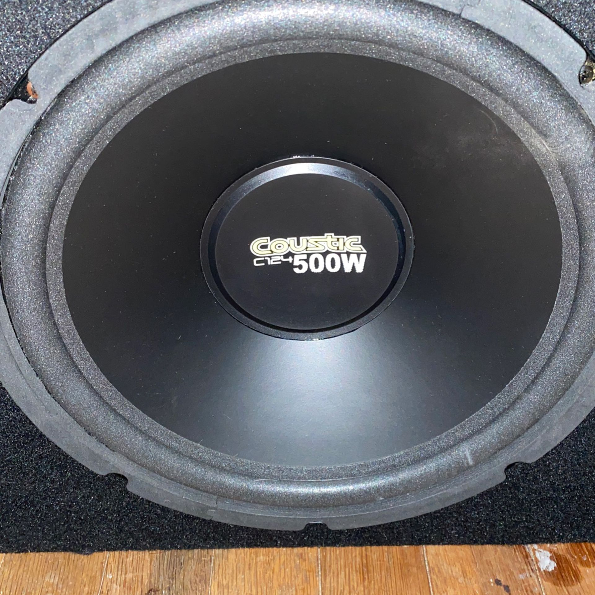 Two 12s Super Sound Box With The Coustic 1000w Monoblock Amplifier