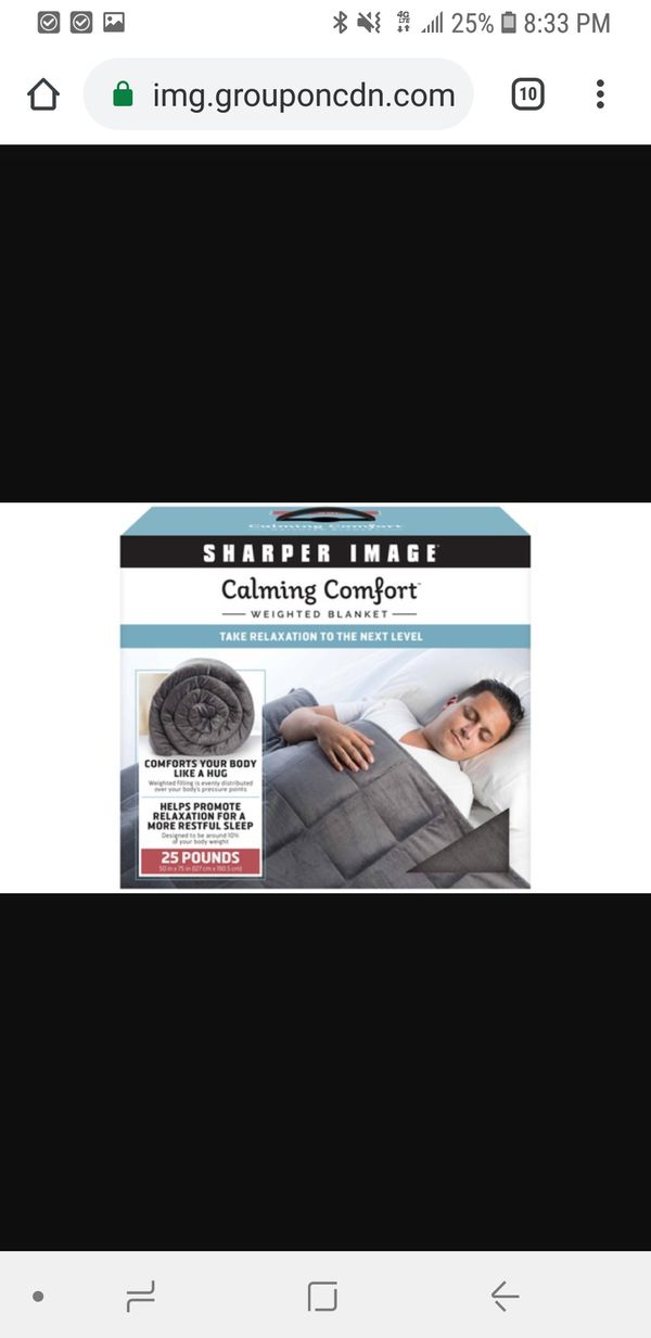Sharper Image Calming Comfort Weighted Blanket 25 Lbs For Sale In