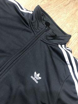 Kids Adidas Black/White Track Jacket Size XL Thumbnail