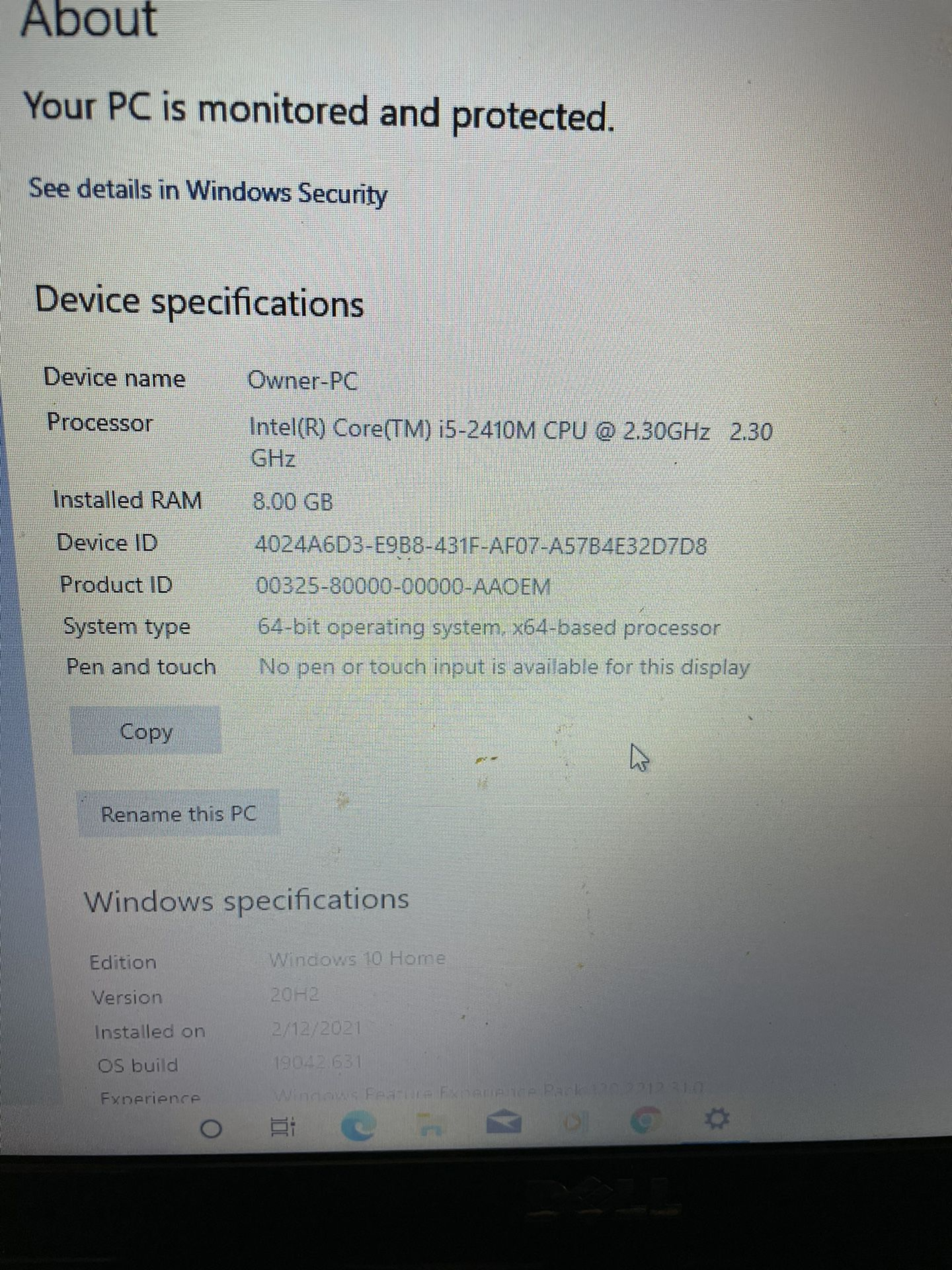 Dell Inspirion N5110 Laptop