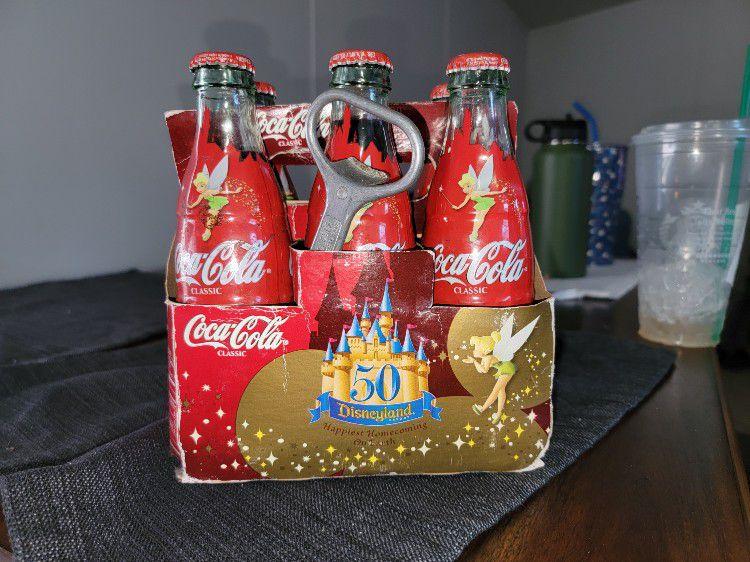 50th Aniversary 6 Pack DISNEY Coca COLA bottles