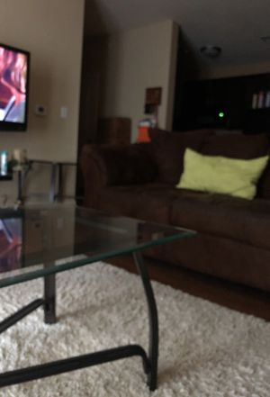 Gently Used Micro Fiber Sofa & Love seat /3 end tables included in price!👍🏽😊 for Sale in Austin, TX