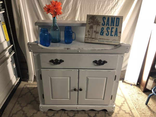 Mobile Bar Shabby Chic.Shabby Chic Dry Sink Kitchen Storage Bar Baby Changing Table For