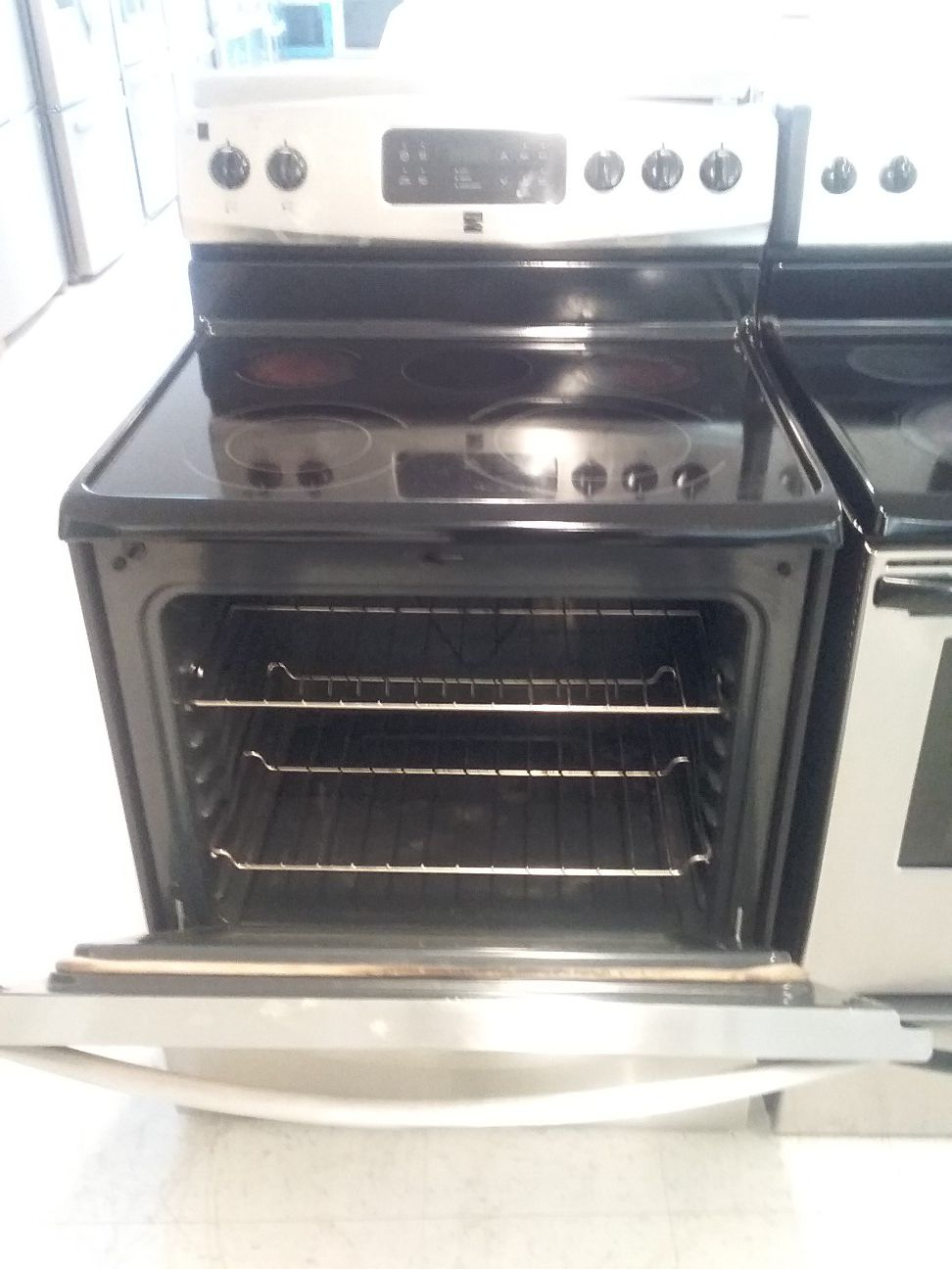 Kenmore elctric stove stainless steel used good condition 90days warranty
