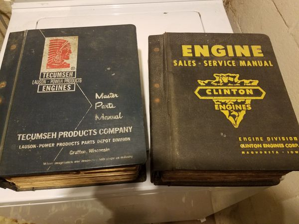 Lot of 2 Vintage Engine Parts Manuals Tecumseh Clinton for Sale in  Gastonia, NC - OfferUp