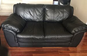 Black Leather 3 piece Sofa Set for Sale in Brambleton, VA