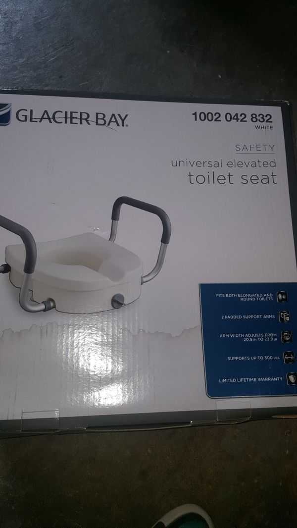 Awe Inspiring Glacier Bay Elevated Toilet Seat New For Sale In Sterling Heights Mi Offerup Theyellowbook Wood Chair Design Ideas Theyellowbookinfo