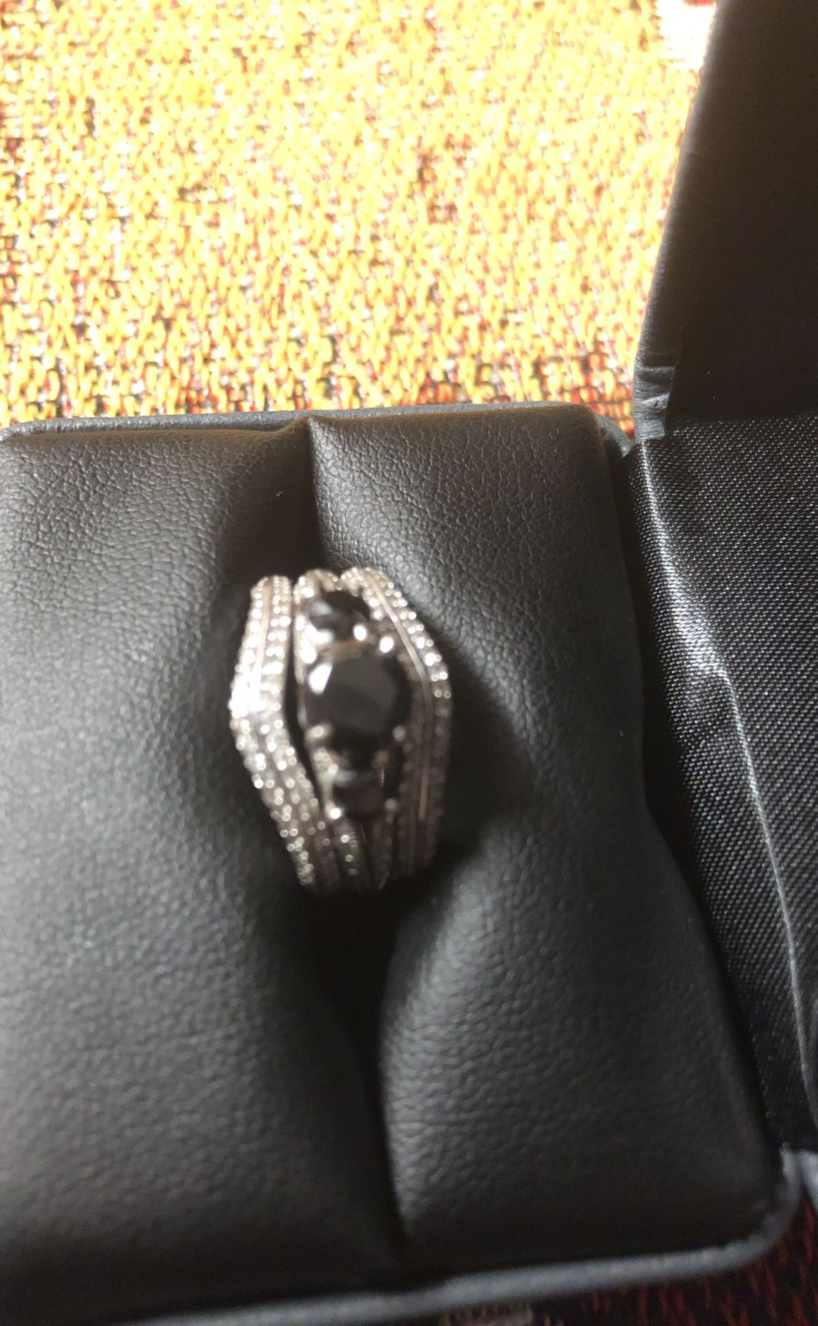 Zales Black Diamond Ring 3ct