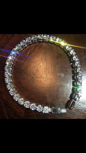 14K white gold plated bracelet for Sale in Ashburn, VA