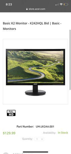 Acer HD Monitor 24 Thumbnail