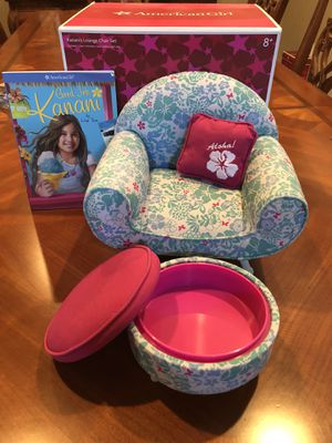 Astounding American Girl Doll Kananis Lounge Chair With Ottoman Book Unemploymentrelief Wooden Chair Designs For Living Room Unemploymentrelieforg