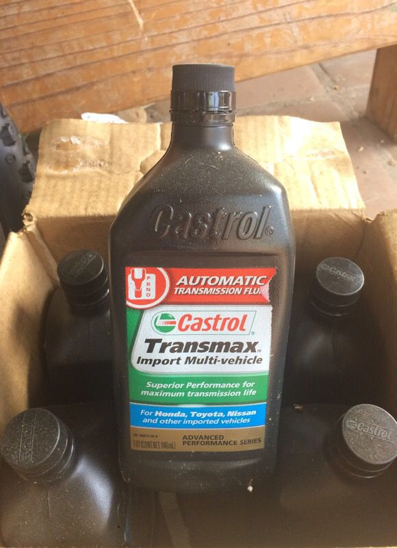 Castrol 06814-6PK Transmax Import Multi-Vehicle Automatic Transmission  Fluid - 1 Quart, (Pack of 6) for Sale in San Diego, CA - OfferUp