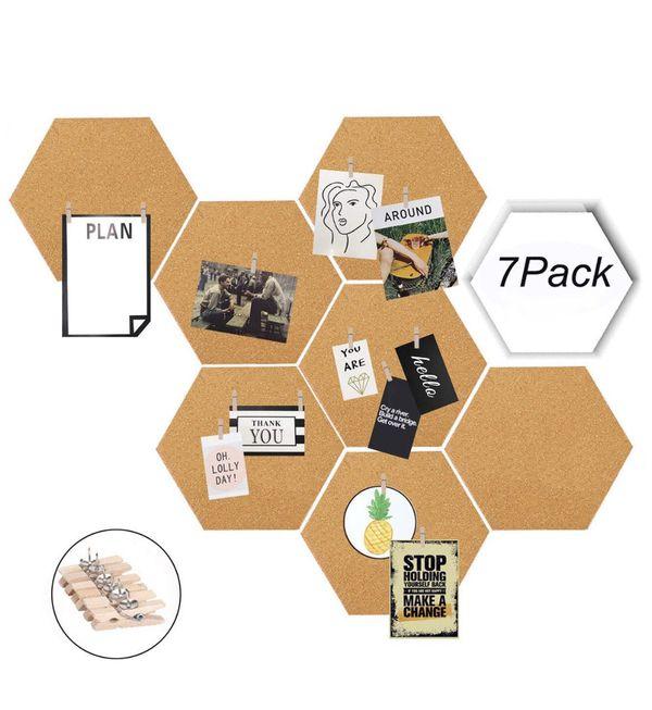 Wall Decor Bulletin Board Cork Tiles Hexagon Cork Board For Sale In