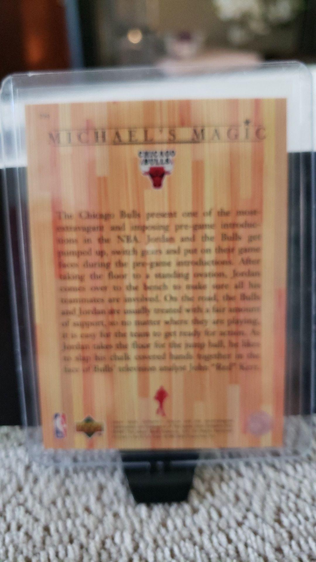 Michael Jordan Upper Deck Trading Card