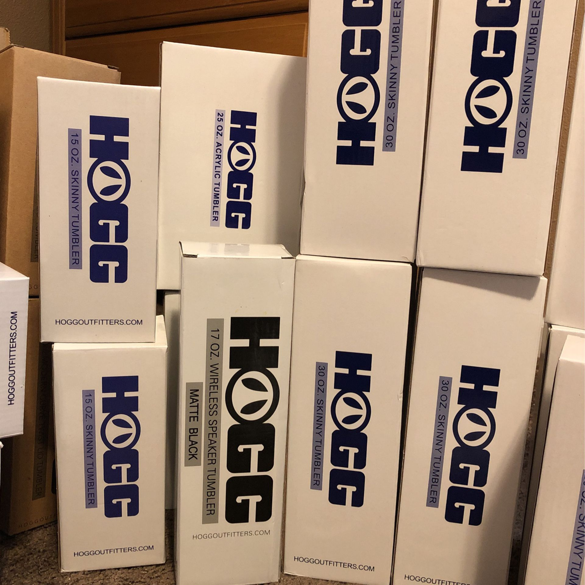 Box Of Hogg Brand Stainless Steel Cups