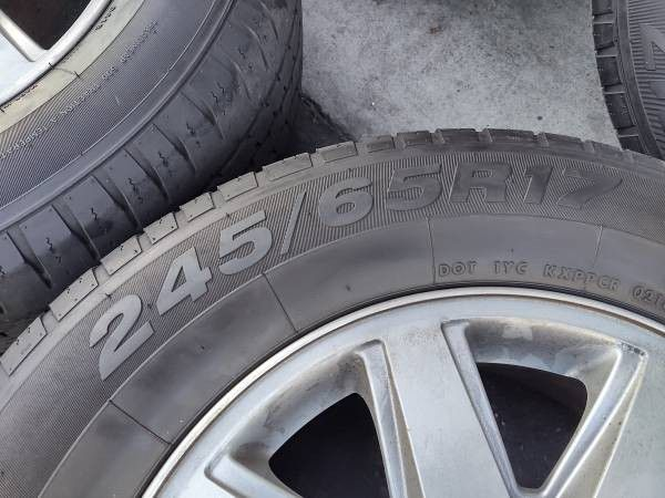 17 inch rims and caps with tires. Buick Ranier, trailblazer or Envoy