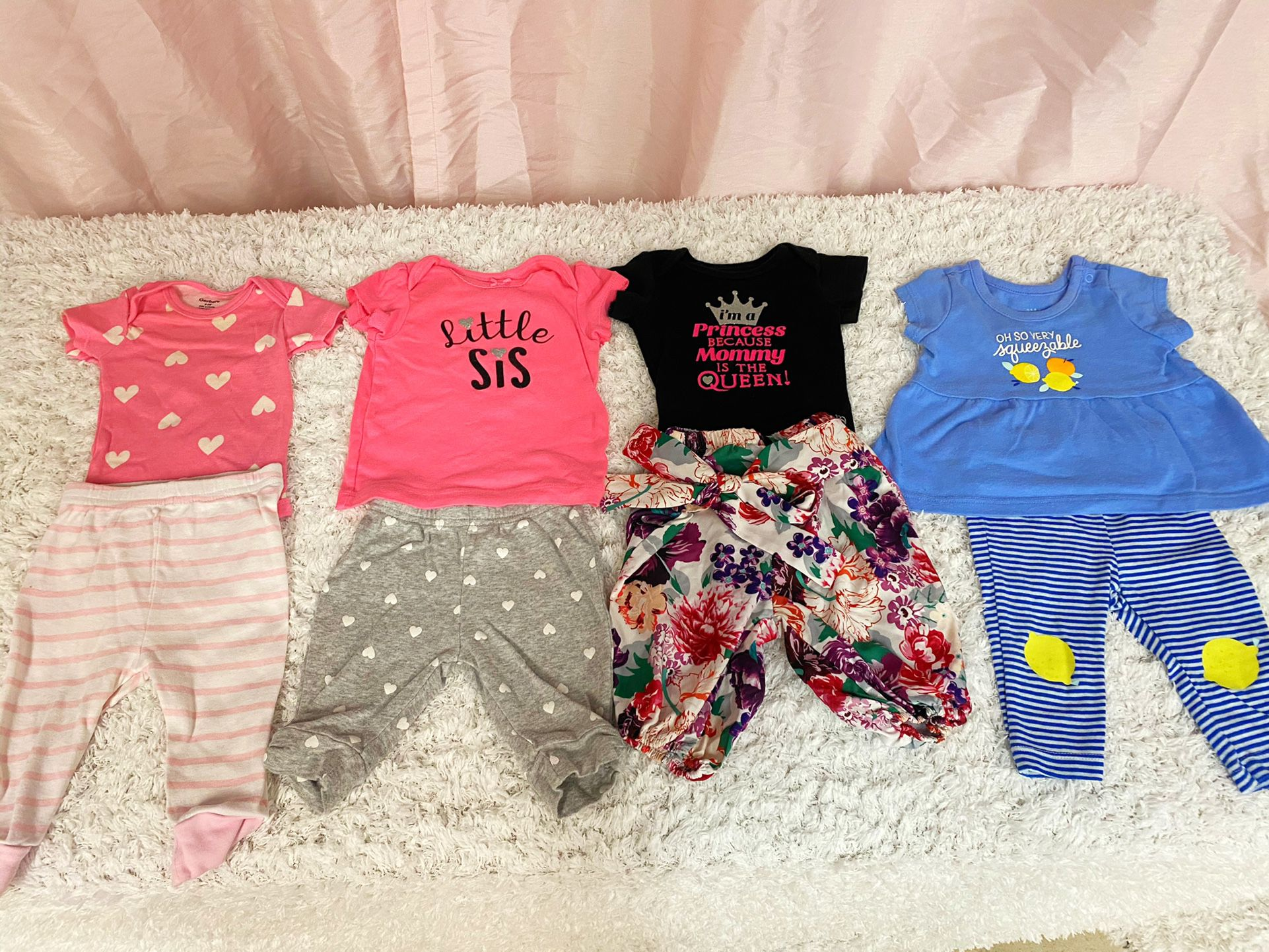 Baby Girl 0-3 Months Clothes Lot
