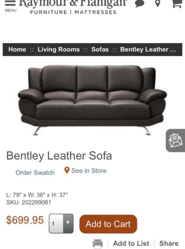 Bentley Sofa Set From Raymour Flanagan Furniture In Bronx Ny Offerup
